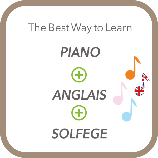 slogan methode eveil musical The Best Way to learn Piano+Anglais+Solfège
